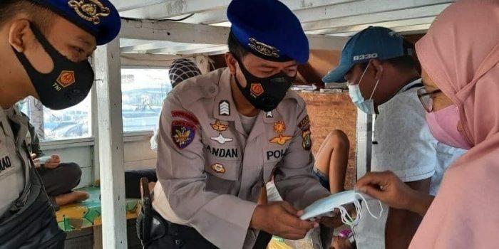 Satpolair Polres Kep Seribu dalam Ops Ketupat Jaya-2021, Himbau Keselamatan Berlayar dan Aturan ProKes