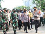 Rombongan Kapolri juga TNI Tinjau tiga Lokasi Gerai di Wilayah Polsek Sawah Besar
