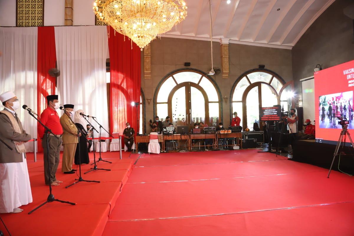 Bupati Malang Dampingi Kepala BINDA Jatim Ikuti Video Conference dengan Presiden