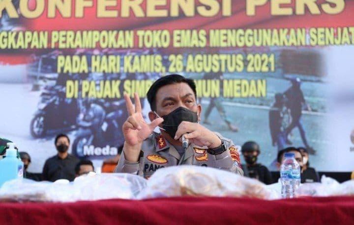 Polda Sumut Gulung 5 Orang Perampokan Toko Emas Medan di Pasar Simpang Limun Medan